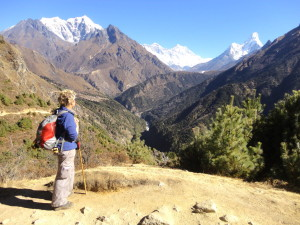 Margie looking at Ana Dablam